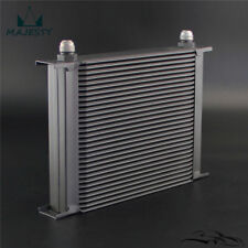 30 Row Engine Transmission Oil Cooler Aluminium AN10 Universal Black