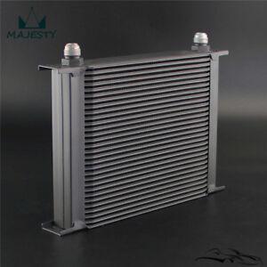 30 Row Engine Transmission Oil Cooler Aluminium AN10 Universal Black