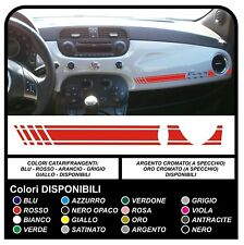 Adesivi per FIAT 500 ABARTH striscia cruscotto FIAT 500 stradale KIT 500