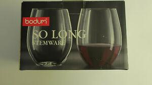 Bodum So Long Red Wine Glasses - Set Of 2