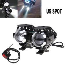2x 125W U5 Motorcycle Cree LED Headlight Driving Fog Lights Spot Lamps + Switch