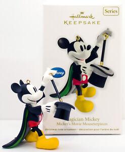 MAGICIAN Mickey Mouse NM/SD Box NEW Hallmark 2012 Movie Mousterp Disney Ornament