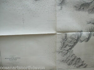 ADMIRALTY CHART MAP LARGE DE LA POINTE DE SENETOSE AU CAP MURO SHIPPING ITALY