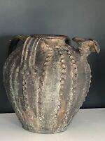 ANCIENNNE CRUCHE A HUILE PERIGORD terre cuite vernissée art populaire 18-19eme