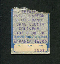 1975 Eric Clapton concert ticket stub Madison Wi There's One In Every Crowd