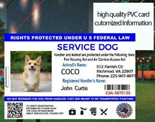 Service Dog Id Card Customized 2020 High Quality