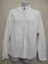 Marks & Spencer UK16 EU44 cream warm double-end zip long-sleeved cardigan - new