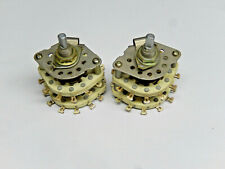 2 PCS High-power Plastic Rotary Switch 3 pole 11 position change voice frequency