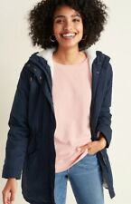 NWT Old Navy Water Resistant Hooded Faux Fur Lined Parka Navy XXL Tall