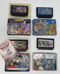 Nintendo Famicom Dragon Quest I, II, III, IV Games Bundle Boxed Japan UK SELLER
