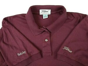 TITLEIST Women's Large Golf Polo Shirt Logo Embroidered Footjoy