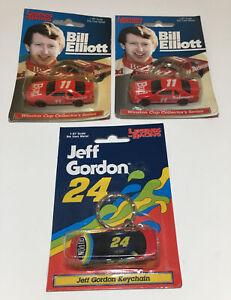 1998 Legends of Racing Jeff Gordon Keychain #24 Die Cast & 2 Bill Elliot 1:87