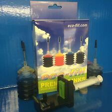 ECOFILL INK CARTRIDGE REFILL KIT HP Officejet 3830 4650 Envy 4520 4512   HP63 63