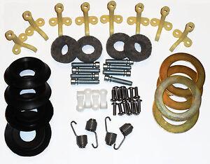 63-67 Corvette Headlight/Headlamp Deluxe kit w/ Pivot Felt, Washer & Rubber kit