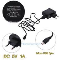 EU-Stecker Netzteil Netzadapter AC100-240V auf/zu DC Micro USB Adapter 5V 1A