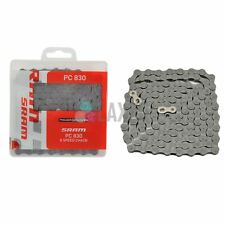 SRAM PC 830 P-Link Bicycle Chain (8-Speed, Grey)