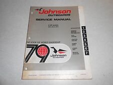 1979 4 hp Genuine JOHNSON EVINRUDE Outboard Repair & Service Manual 4hp