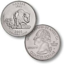 ETATS-UNIS / USA - 25 Cents - States Quarter Dollar - KANSAS - 2005 - P - NEUF