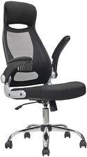Executive High Back Mesh Office Desk Chair Support Flip Up Armrest Home Work