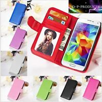 Samsung Galaxy S5 MINI Case / Wallet Case / 8 Colours / High quality *Uk seller*