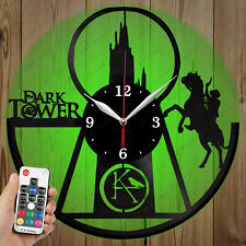 LED Vinyl Clock Dark Tower LED Wall Art Decor Clock Original Gift 2764