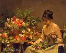 Victorian Woman Bouquets -The Flower Seller by Victor G Gilbert 8x10 Print 0286