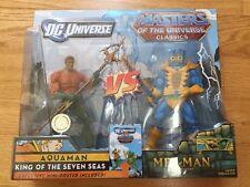 DC Universe Aquaman VS Masters of the Universe Classics Mer-Man Set NEW