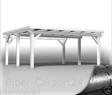 500x550cm BIBER DOPPEL-CARPORT Leimholz 5x5,5 Doppelcarport Holz BSH EPDM