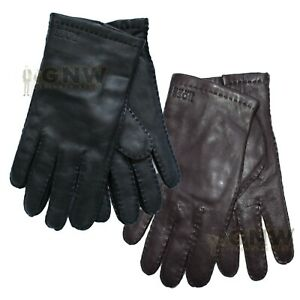 HUGO BOSS MEN HUGO LOGO GLOVES KRANTON-2 BLACK/BROWN ALL SIZES Was £69