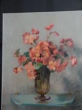 Pastel Nature Morte, Bouquet De Fleurs, Jeanne Dangon, Fin XIX ème