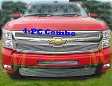 2009 07-13 08 09 10 2011 2013 Chevy Silverado 1500 Bolton Billet Grille 4PC Comb