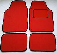 Red Car Mats Black Trim For Toyota Corolla IQ MR2 Prius Supra Yaris
