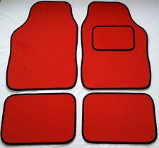 Red Car Mats Black Trim For Vauxhall Nova Meriva Signum Tigra Vectra