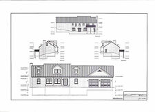 Full Set of two story 3 bedroom house plans 1,851 sq ft
