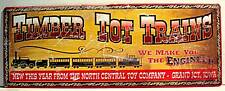 Timber Tot Toy Trains Rustic Retro Old Style Tin Sign