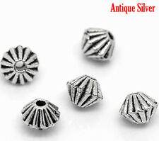 50 x ton argent bobine biconique spacer beads craft jewellery findings - 4mm-L02878