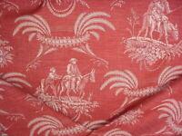 Scalamandre TW 00021001 Danbury Dusty Rose Spanish Toile Upholstery Fabric