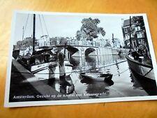 OLD REAL PHOTO-PC: AMSTERDAM~GEZICHT OP DE AMSTEL MET KEIZERSGRACHT~SHIPS