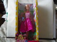 Barbie Happy Birthday Doll W/Pink Dress & Birthday Present 2016 NIB