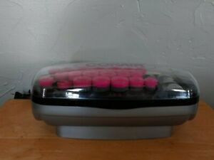 Conair Hot Clips 20 gray & pink hot rollers / curlers + 3 hair clips. CHV26HCXR