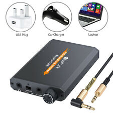Portable Audio HIFI Headphone Amplifier Earphone AMP with Audio / USB Cable NEW