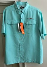 Habit Men's Short Sleeve River Outdoor TS1155 Limpet Shell XL Shirt UPF40+ NWT