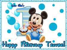 Baby MICKEY 1st Edible Photo CAKE Topper Decoration ICING Image Mouse Birthday