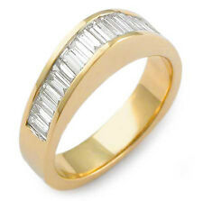 1.00Ct Baguette Diamond Wedding G VS2 Anniversary Band Ring 14k Gold Yellow