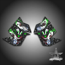 SKI DOO REV XP SNOWMOBILE SLED GRAPHICS DECAL SIDE PANEL EVIL JOKER GREEN