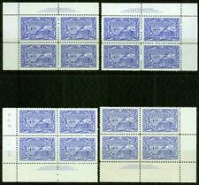 CANADA  1951 -1$ FISHING RESOURCES PLATE BLOCKS - VF**