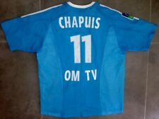 Ancien Maillot Adidas OM Marseille Porté Chapuis France Match Shirt Worn