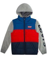Levi's Big Boys Colorblocked Hooded Logo Vest-COLOR- INK- SIZE: LARGE-NWT