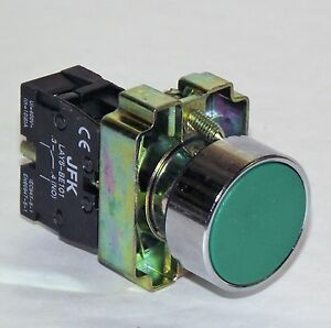 GREEN START PUSH BUTTON 1 N/O CONTACT 22MM  PANEL MOUNTING NEW & BOXED
