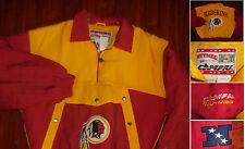 Washington Redskins 90'S NFL Nutmeg Jacket Coat ¼ Zipper Embroidered Large